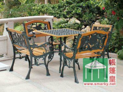 鑄鐵花園單人椅 PA-016配4椅