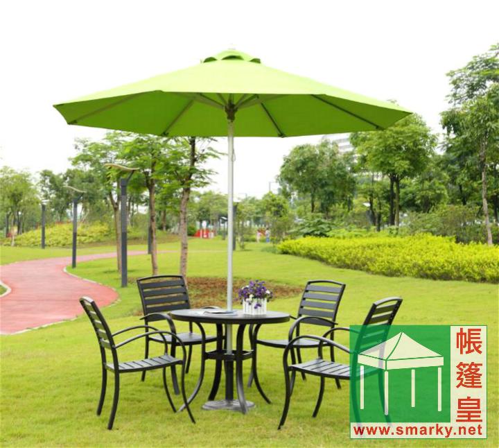 直徑2.7米中柱鋁合金手拉繩式花園傘 – 展開方式