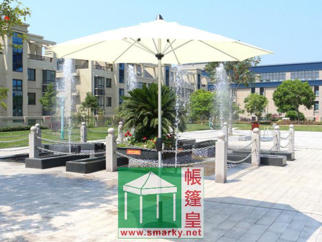 直徑2.7米中柱鋁合金手搖式花園傘