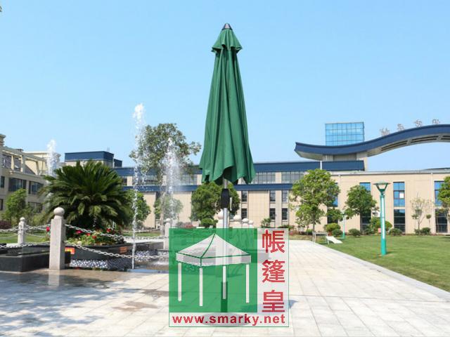 2.7米鋁合金中柱手攪式花園傘-展開方法