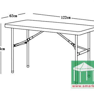 悠閒桌椅-SY-122Z 不可對摺 直枱