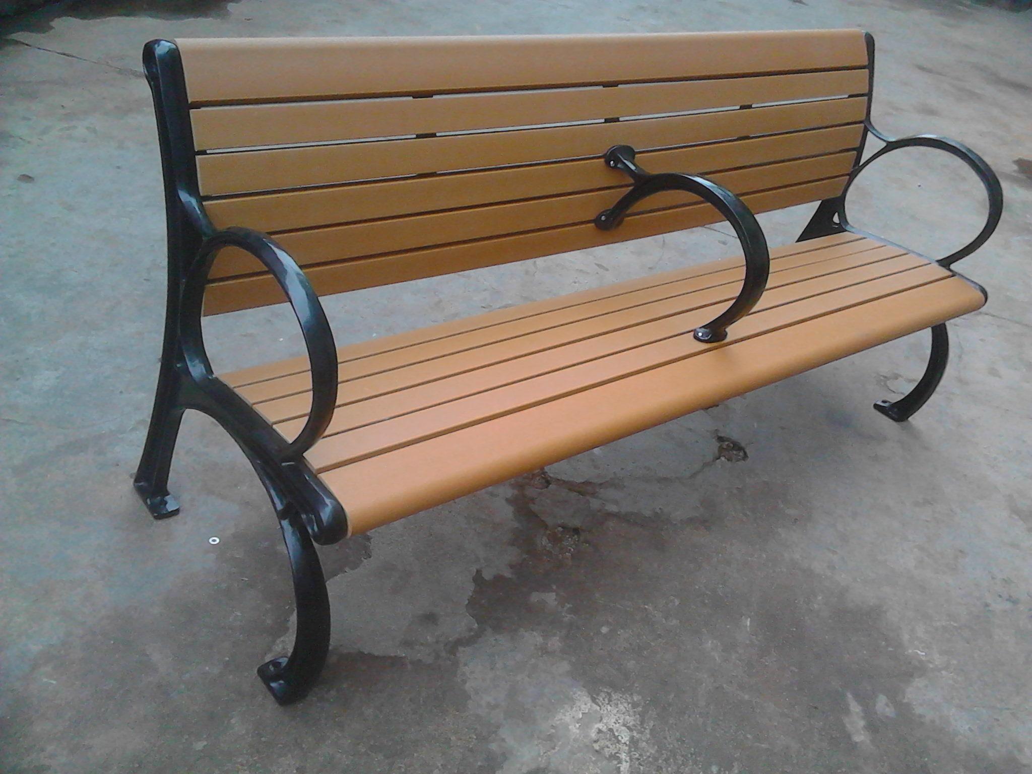 環保木公園長椅-有靠背- XBB-65