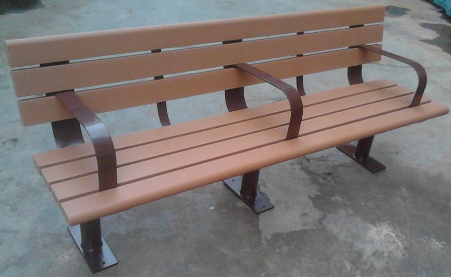 環保木公園長椅-有靠背- XBB-66
