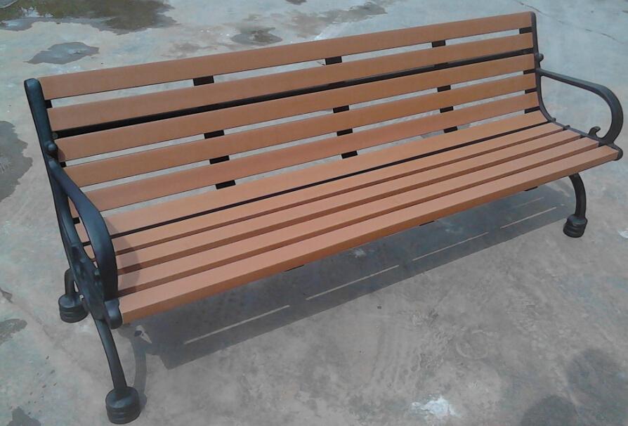 環保木公園長椅-有靠背- XBB-68