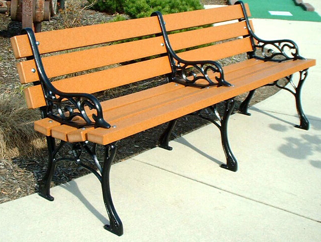 環保木公園長椅-有靠背- XBB-73