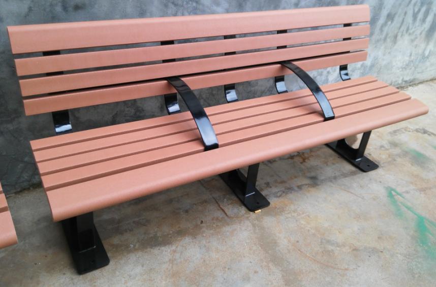環保木公園長椅-有靠背- XBB-77