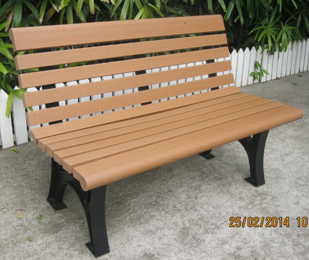 環保木公園長椅-有靠背- XBB-79