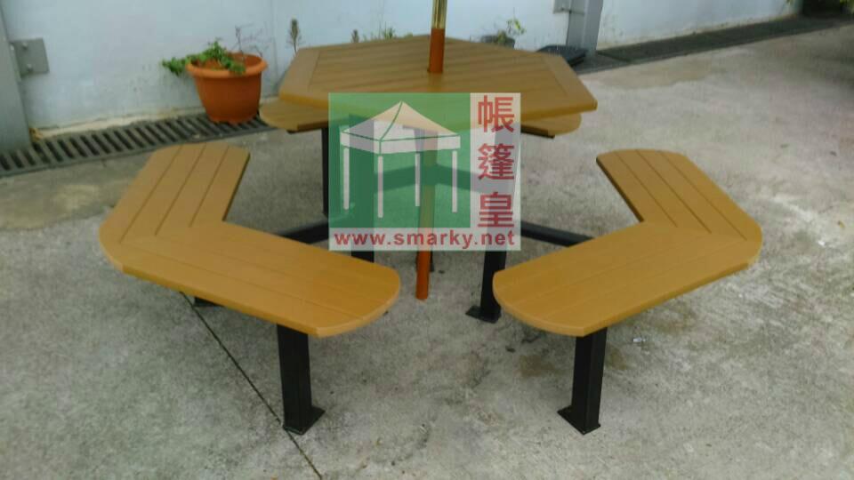 環保木連體桌椅組合-XBW-103