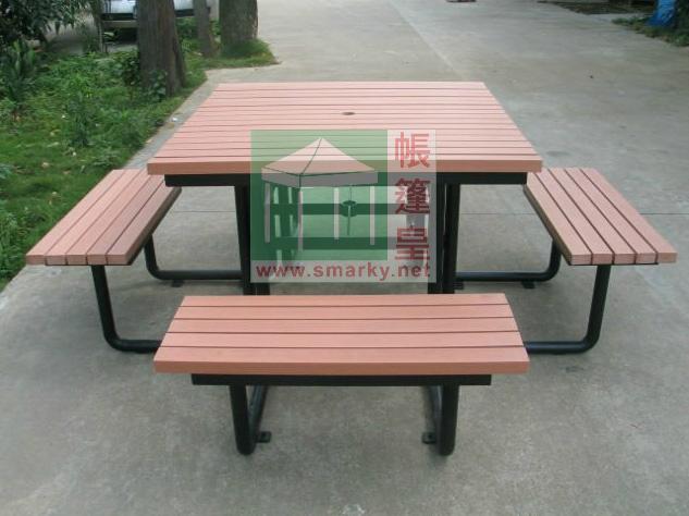 環保木連體桌椅組合-XBW-74
