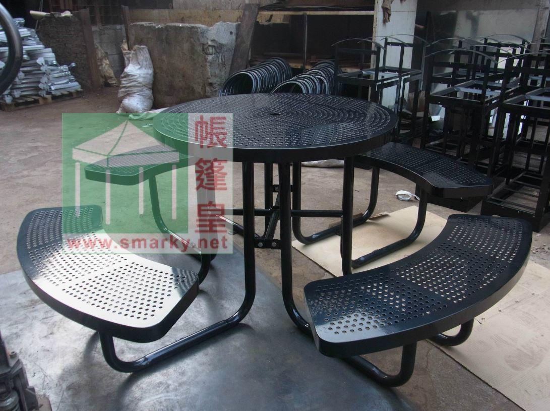 金屬連體桌椅組合-RIMG2513