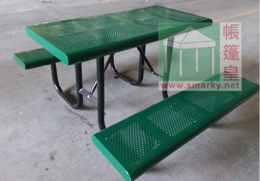 金屬連體桌椅組合-XBW-208A