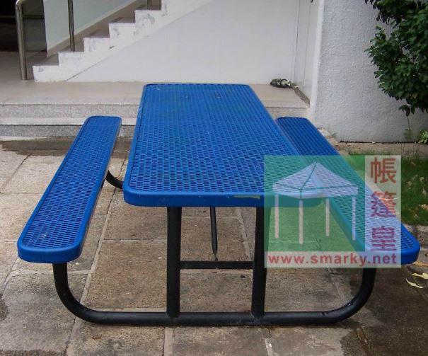金屬連體桌椅組合-XBW-210