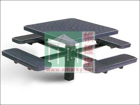 金屬連體桌椅組合-XBW-212