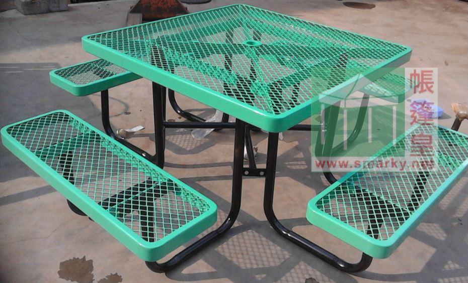 金屬連體桌椅組合-XBW-217