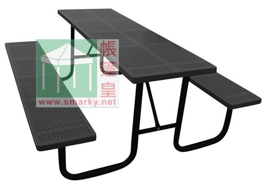 金屬連體桌椅組合-XBW-218