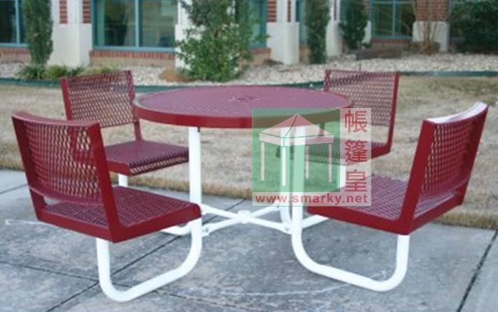 金屬連體桌椅組合-XBW-222