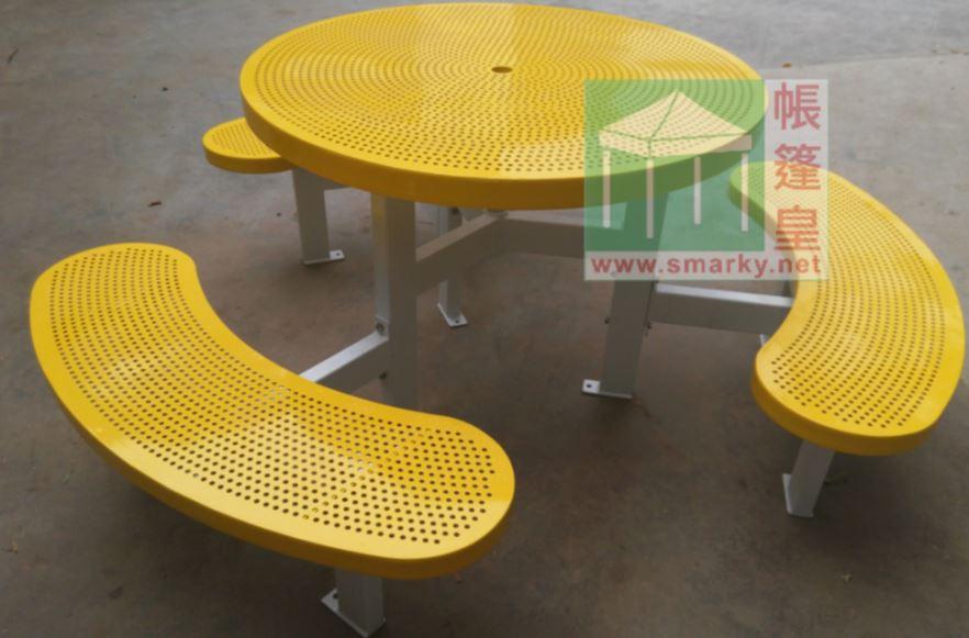 金屬連體桌椅組合-XBW-226