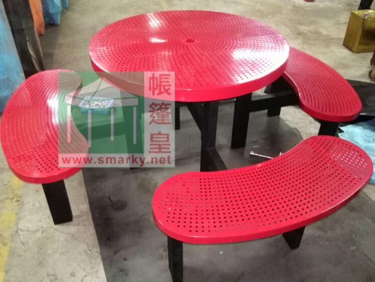 金屬連體桌椅組合-XBW-228