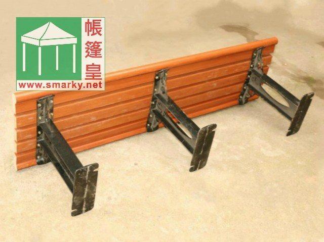 戶外環保木公園長椅-IPT151-3腳底座