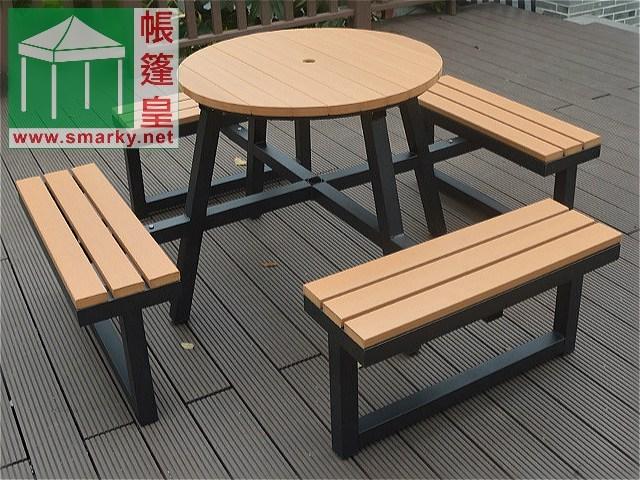 環保木桌椅組合-OFC090-1