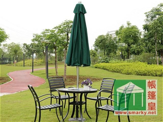 花園傘-3.0米中柱不銹鋼花園傘 (手拉繩式)