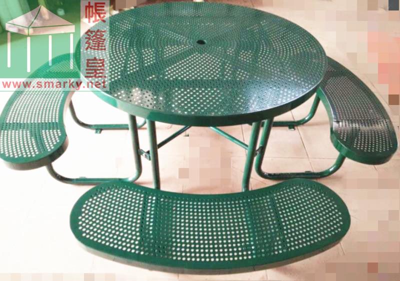 戶外鋼鐵桌椅組合(1)