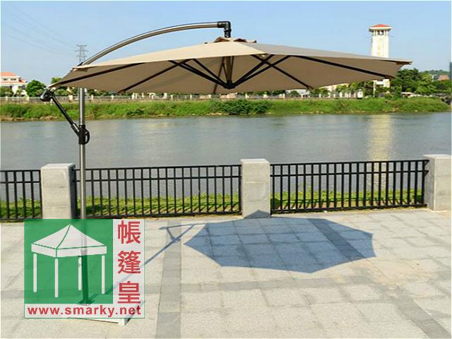 2.7米鋁合金弓型花園傘-卡其色