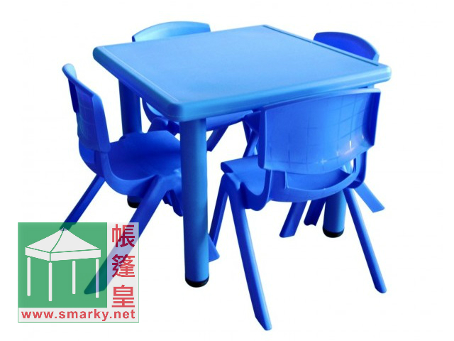 Y0023兒童方膠枱-藍色