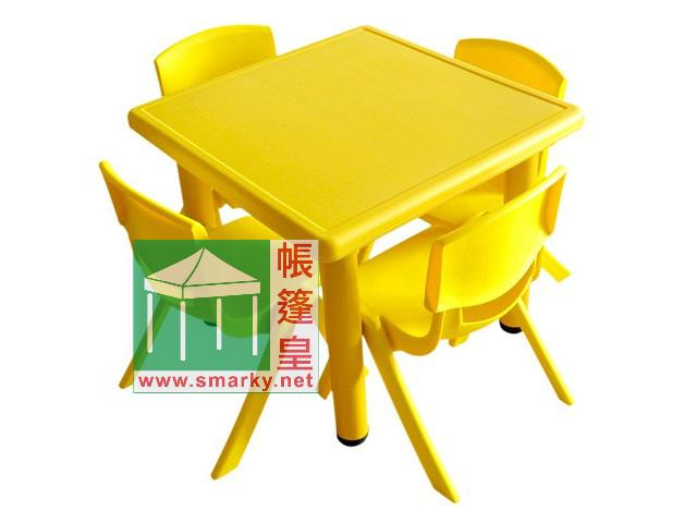 Y0023兒童方膠枱-黃色