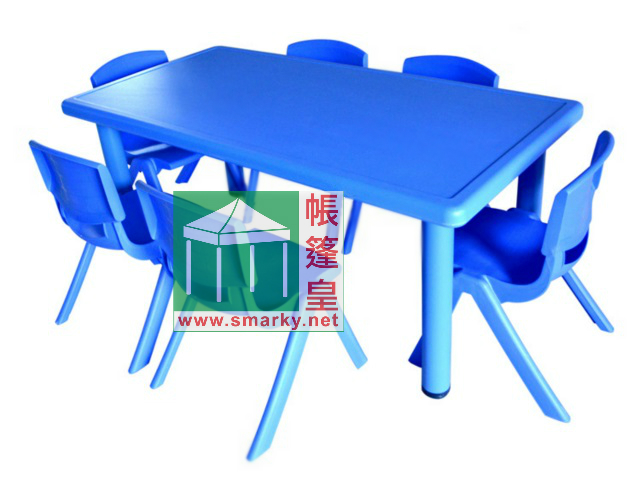 Y0101兒童長膠枱-藍色
